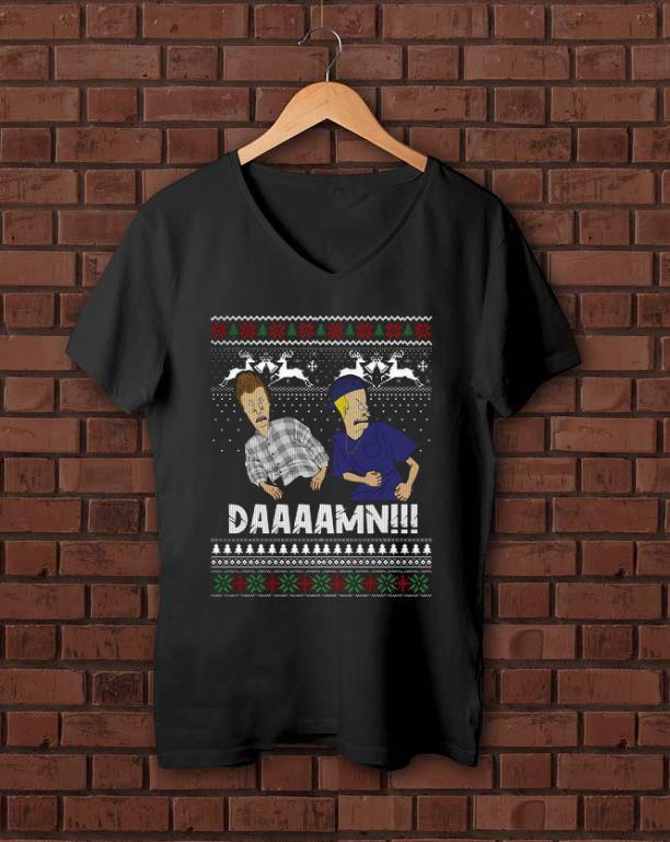 Top Beavis And Butthead Daaaamn Ugly Christmas Shirt 1 1.jpg
