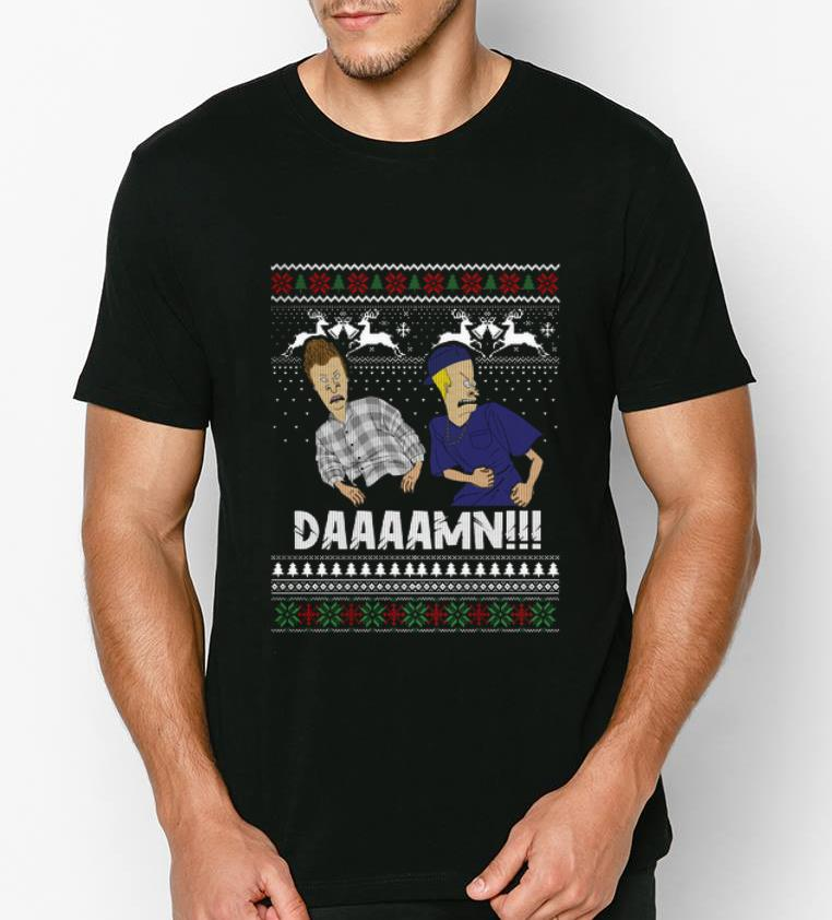 Top Beavis And Butthead Daaaamn Ugly Christmas shirt