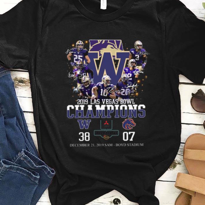 Awesome 2019 Las Vegas Bowl Champions Players Signatures Shirt 1 1.jpg