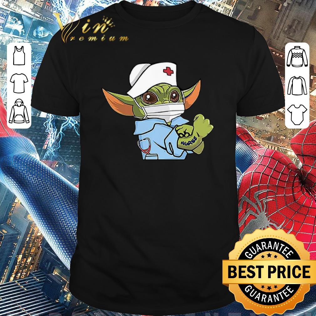 Funny Baby Yoda Wearing Scrub Nurse Strong Shirt 1 1.jpg