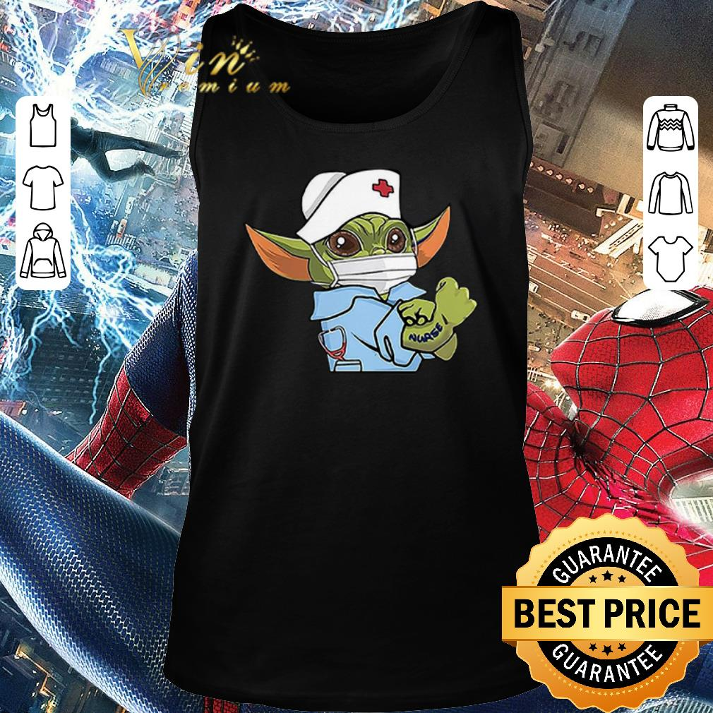 Funny Baby Yoda Wearing Scrub Nurse Strong Shirt 2 1.jpg