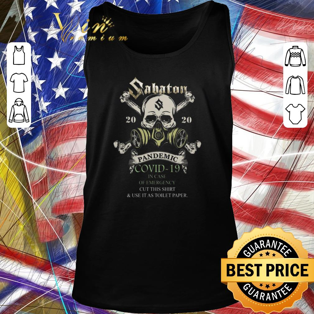 Premium Skull Sabaton 2020 Pandemic Covid 19 In Case Of Emergency Shirt 2 1.jpg