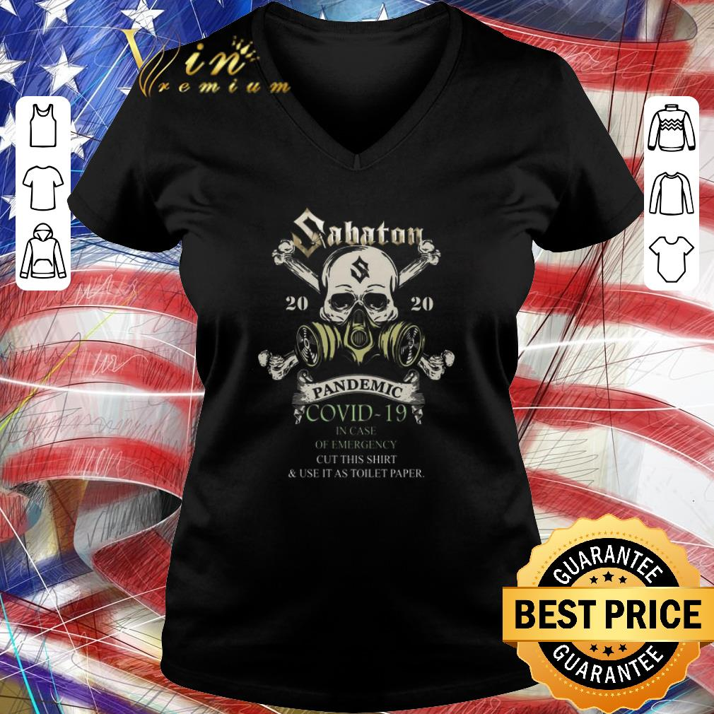 Premium Skull Sabaton 2020 Pandemic Covid 19 In Case Of Emergency Shirt 3 1.jpg