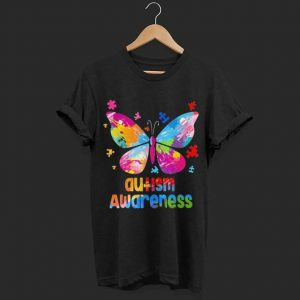 Autism Awareness Colorful Butterfly shirt