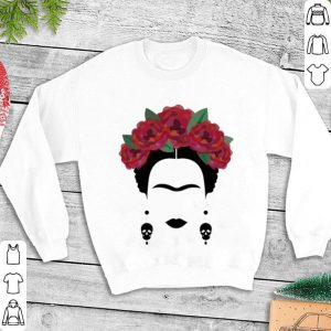 Flowers Frida Kahlo skull shirt