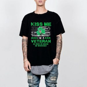 Kiss Me I'm A Veteran Irish St Patrick's Day shirt 1