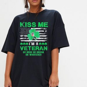 Kiss Me I'm A Veteran Irish St Patrick's Day shirt 2