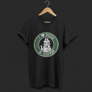 Starbucks Parody I love dogs and coffee shirt