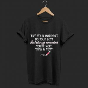 Try Your Hardest Do Your Best shirt