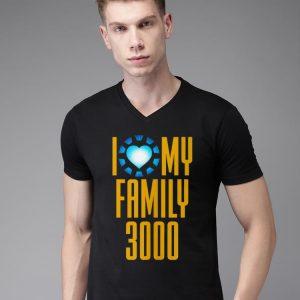 I Love My Family 3000 Arc Reactor heart shirt