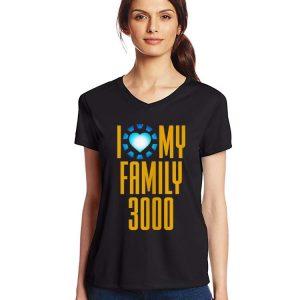 I Love My Family 3000 Arc Reactor heart shirt 2