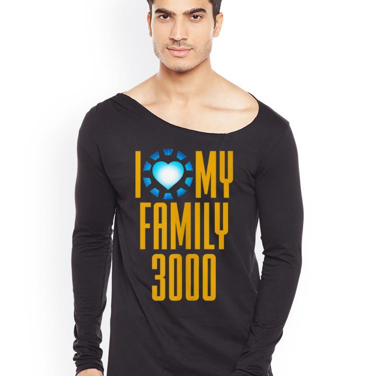 I Love My Family 3000 Arc Reactor heart shirt 4 - I Love My Family 3000 Arc Reactor heart shirt