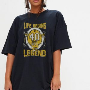 Life begins at 40 born in 1979 the year of the legend shirt 2