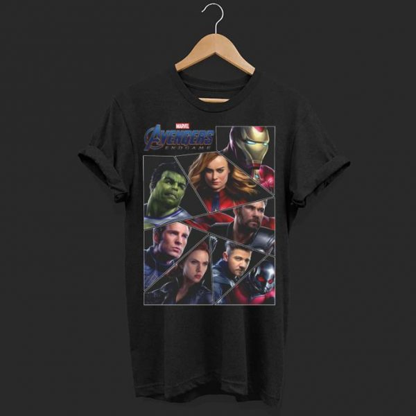 Marvel Avengers Endgame Broken Character Panels shirt