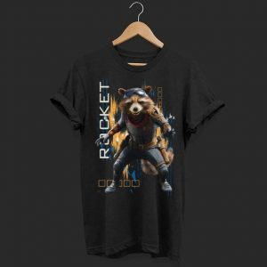 Marvel Avengers Endgame Rocket Action Pose shirt