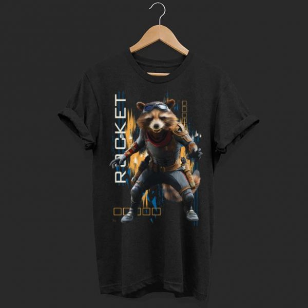 Marvel Avengers Endgame Rocket Action Pose shirt