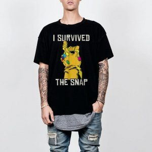 Marvel Thanos Gauntlet I Survived The Snap shirt