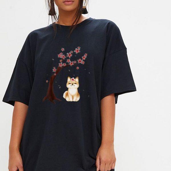 Shiba Inu Dog Japanese Cherry Blossom Sakura Flower shirt