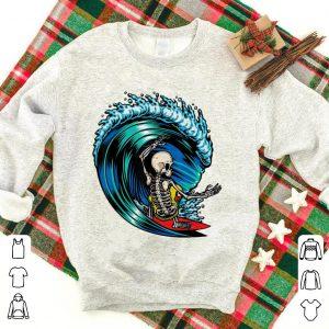 Skeleton Skull Surfing shirt