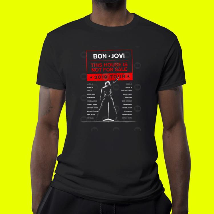 Bon Jovi This House Is Not For Sale 2019 Tour shirt