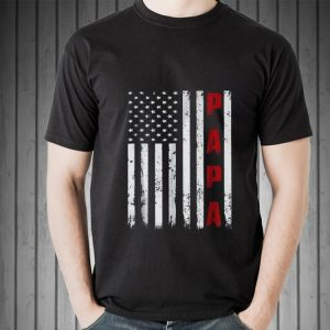 Proud Papa Fathers Day American Flag shirt 1