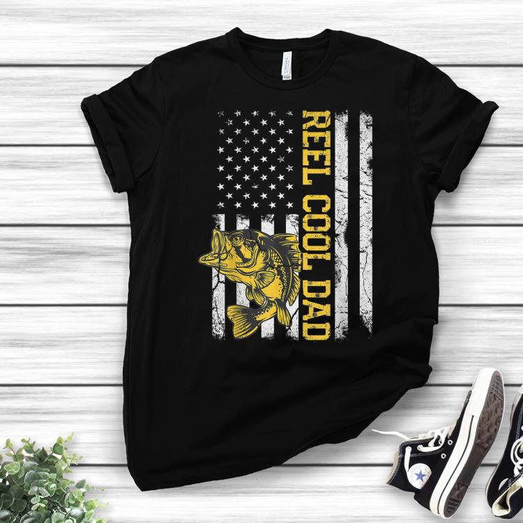 bd8e67056 Reel Cool Dad Fishing Fathers Day American Flag shirt, hoodie ...