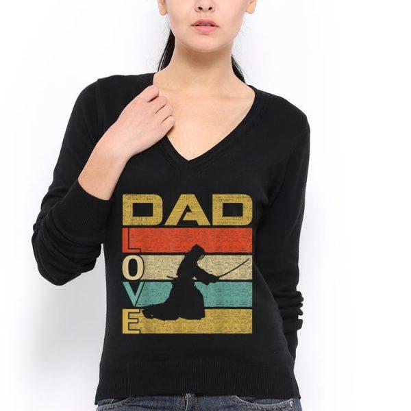 Retro Vintage Dad Love Kendo Fathers Day shirt