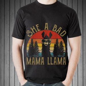 She Is Bad Mama Llama Sunset shirt