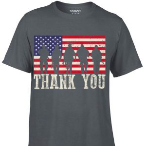 Thank You Veterans American Flag Patriotic shirt