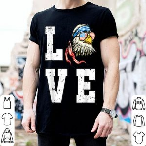 4th Of July Bald Eagle Merica Love American Flag shirt