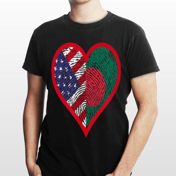 America And Bangladesh Two Countries One Heart shirt