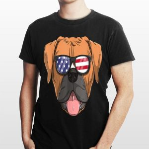 American Boxer Dog Patriotic Usa 4th Of July shirt