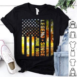 American Flag Legend Since June 1989 30th Birthday shirt