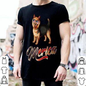 Australian Terrier Breed Dog America Flag Patriot shirt
