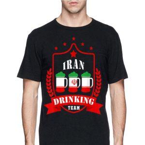 Beer Iran Drinking Team Casual Iran Flag shirt