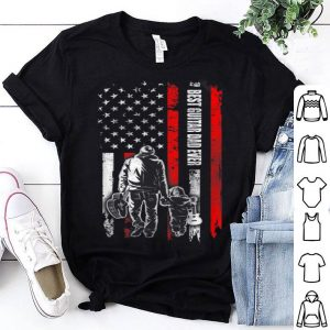 Best Guitar Dad Ever American Flag For Fathers Day shirt