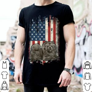 Chow Chow American Flag Usa Patriotic Dog Lover shirt
