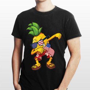 Dabbing Pineapple Us Flag 4th Of July shirt