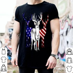 Deer American Flag 4th Of July Hunting Independence Day shirt
