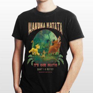 Disney Lion King Hakuna Matata Motto Simba Timon Pumbaa shirt