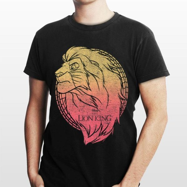 Disney Lion King Simba Gradient Face Portrait shirt