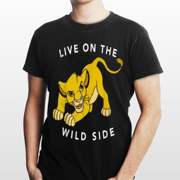 Disney Lion King Simba Live On The Wild Side Fierce Poster shirt