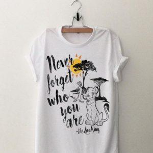 Disney Lion King Simba Never Forget Graphic shirt