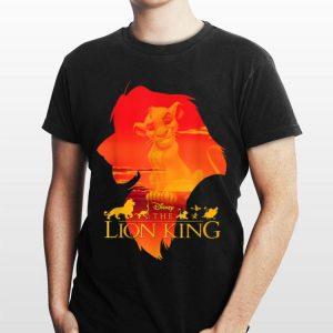 Disney Lion King Simba Silhouette Fill Sunset Poster shirt