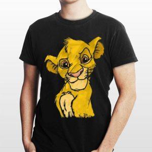 Disney Lion King Young Simba Smiling Portrait Sketch shirt