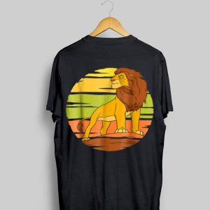 Disney The Lion King Adult Simba Pride Rock Sun shirt