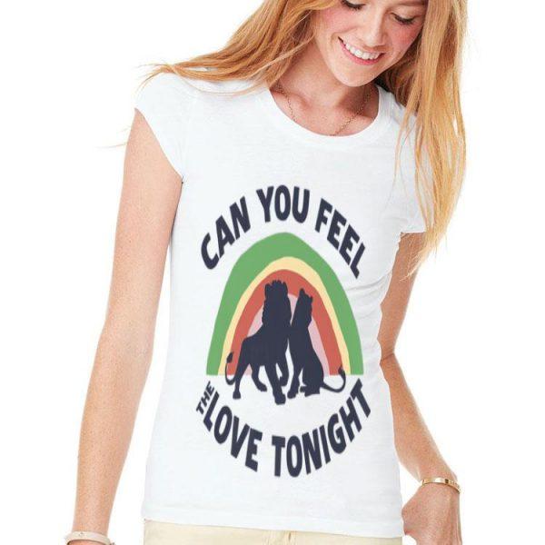 Disney The Lion King Simba Nala Rainbow Love Silhouette shirt