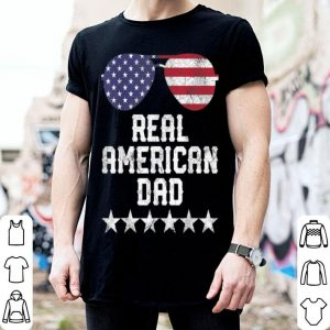 Fourth of July 4th Real Dad American Flag shirt