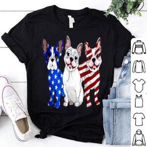 French Bulldog American flag 4th of July shirt