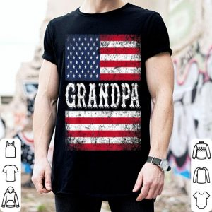 Grandpa Vintage USA Flag Patriotic Father Day shirt